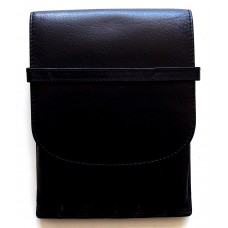 6 Pen Top Flap Case, Black