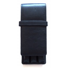3 Pen Top Flap Case, Black