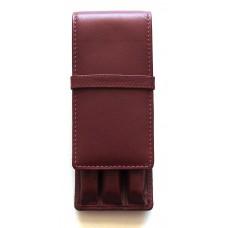 3 Pen Top Flap Case, Brown