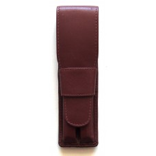 2 Pen Top Flap Case, Brown