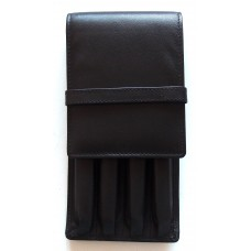 4 Pen Top Flap Case, Black