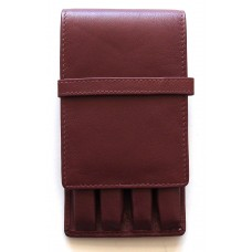 4 Pen Top Flap Case, Brown