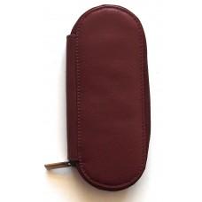 2 Pen Zippered Case, Brown