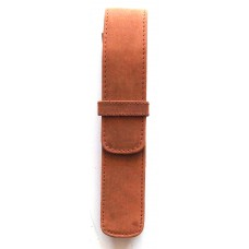 1 Pen Top Flap Case, Saddle Brown