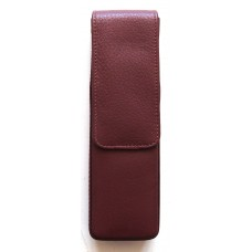 2 Pen Magnetic Flap Case, Brown