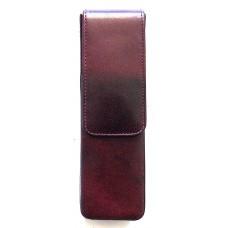 2 Pen Magnetic Flap Case, Oxblood