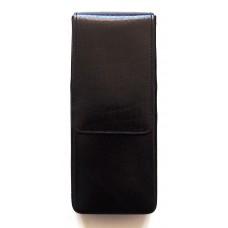 3 Pen Magnetic Flap Case, Black