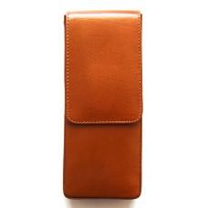3 Pen Magnetic Flap Case, Tan