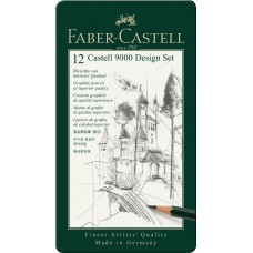 Castell 9000 Design Set 5B-5H, Tin of 12