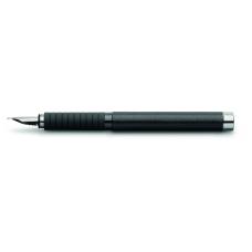 Essentio Aluminium Black Leather Fountain Pen