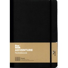 Adventure Notebook - Large Ruled Off-Black