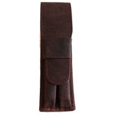 2 Pen Top Flap Case, Bomber Brown
