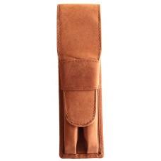 2 Pen Top Flap Case, Saddle Brown