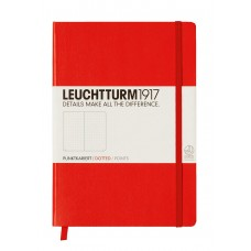 Medium Dotted Red Hardcover
