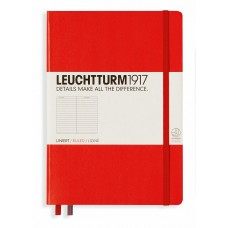 Medium Lined Red Hardcover