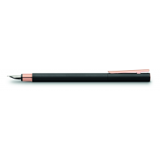 Neo Slim Black and Rose Gold Fountain Pen
