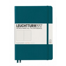 Medium Lined Pacific Green Hardcover