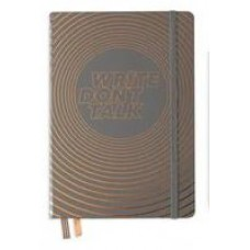 Medium Write Don't Talk Dotted Anthrocite Hardcover