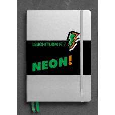 Medium Dotted Neon Green Hardcover