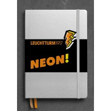 Medium Dotted Neon Orange Hardcover