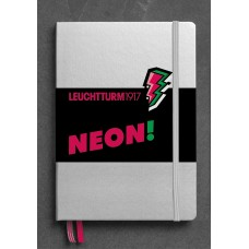 Medium Dotted Neon Pink Hardcover