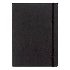 EcoQua A6 Black Blank Notebook