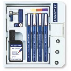Mars matic Technical Pen Set 0.25-0.7mm