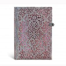 Filigree Blush Pink Midi Hardcover Lined