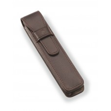 Brown leather case - 1 pen