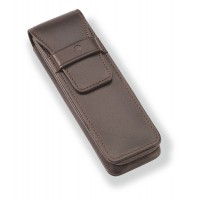 Brown leather case - 2 pens