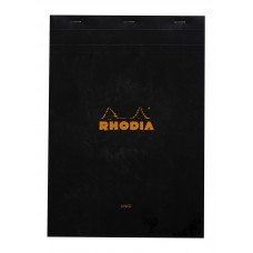 Bloc Rhodia A4 Black - Lined and Margined