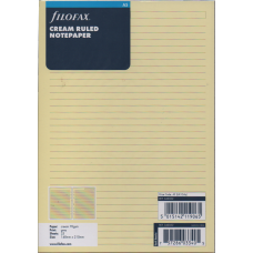 A5 Cream Ruled Notepaper Refill