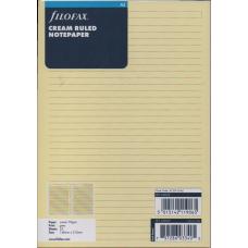 A5 Cream Ruled Notepaper Refill