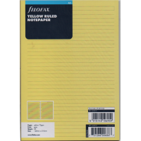 A5 Yellow Ruled Notepaper Refill