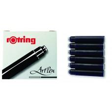 Rotring Black Cartridges 6 pack.