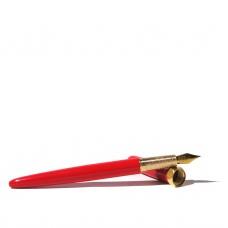 Brush Red Carpet Fountain Pen - Gold Plated Nib