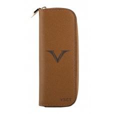 Visconti 2 Pen Case - Cognac