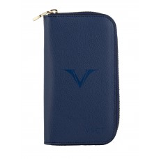 Visconti 3 Pen and Card Case - Blue