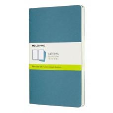 Cahier Large Brisk Blue Blank, 3 Pack
