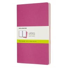 Cahier Large Kinetic Pink Blank, 3 Pack