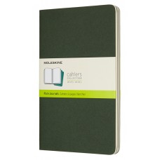 Cahier Large Myrtle Green Blank, 3 Pack