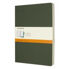 Cahier Extra Large Myrtle Green Lined, 3 Pack
