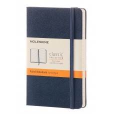 Classic Pocket Sapphire Blue Ruled Notebook
