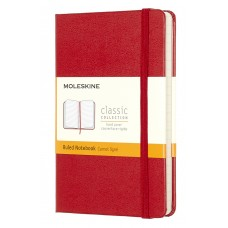 Classic Pocket Red Ruled Notebook