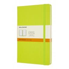 Classic Large Lemon Green Ruled Notebook