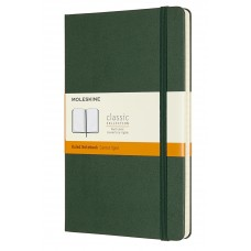 Classic Large Myrtle Green Ruled Notebook