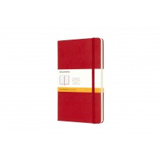 Classic Large Scarlet Red Ruled Notebook
