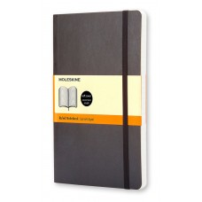 Classic Pocket Black Ruled Notebook - Softcover