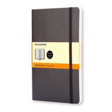 Classic Large Black Lined Notebook - Softcover