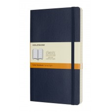 Classic Large Sapphire Blue Lined Notebook - Softcover